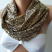 Infinity Scarf Loop Scarf Circle Scarf Gift - Leopard - Super  Loop -It made with good quality  fabric