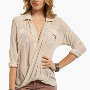 Chiffon Twist Top $39