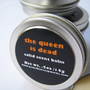 The Queen is Dead Solid Scent Balm - Honey, Leather, Smoke... NEW SIZE