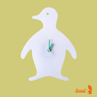 White Penguin Wall Hanging Clock