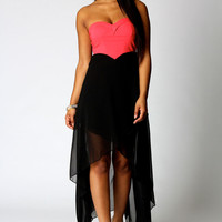 Bella Bandeau Mixi Chiffon Dress