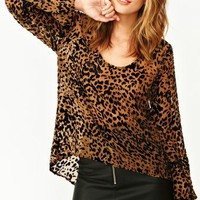 Burnout Leopard Top