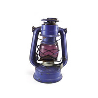 Vintage purple lantern - WingedWheel No 350 cold blast rare rustic collectible