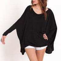Black Night Comfort L/S Oversized Top by Sub Urban Riot - &amp;#36;47.00 : ThreadSence.com, Your Spot For Indie Clothing &amp; Indie Urban Culture