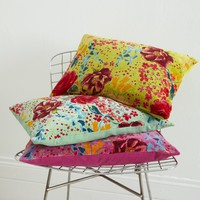 Vibrant Printed Velvet Cushions