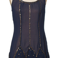 Navy Flapper Dress