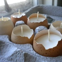 Last Set  Natural Egg Candle  Half Dozen or Pair by TheSkulleryUSA