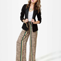 Cute Striped Pants - Wide-Leg Pants - Print Pants