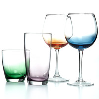 The Cellar Colored Glassware Collection