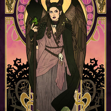 Maleficent Art Print by Made Of Tin