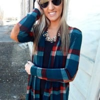 Plaid Elbow Patch Cardigan