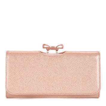 Crosshatch bow matinee - Pink | Wallets | Ted Baker