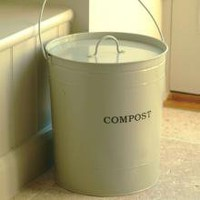 Large Clay Kitchen Compost Bin | For Cooks | Gifts | £15.99 - The Contemporary Home Online Shop
