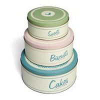 Retro Kitchen Set Of 3 Cake Tins | Tins | Kitchen | £19.99 - The Contemporary Home Online Shop