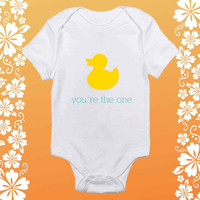You're the one text shirt baby Onesuit, You're the one text baby Onesuit, shirt baby Onesuit, baby Onesuit