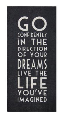 Long Black Sign Go Confidently | Wall Art & Signs | Home Accessories | £12.99 - The Contemporary Home Online Shop