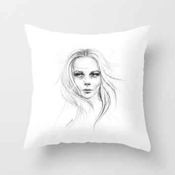 Fade away Throw Pillow by EDrawings38