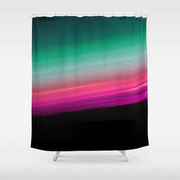 Fuchsia to Teal Smooth Ombre Shower Curtain by 2sweet4words Designs