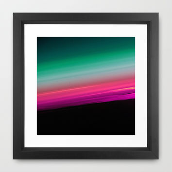 Fuchsia to Teal Smooth Ombre Framed Art Print by 2sweet4words Designs