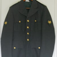 ARMY MILITARY DRESS UNIFORM COAT JACKET SERGEANT MENS HALLOWEEN COSTUME SZ 37L