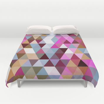 Triangle Mix #3 Duvet Cover by Ornaart