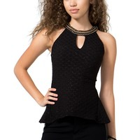 Its Hot Chain Halter Top
