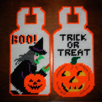 Set of 2 Halloween Doorknob Hangers