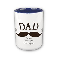 Artistic Dad Illustrated Mustache Mug from Zazzle.com