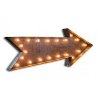 Everyday Art Vintage Marquee Arrow Light Wall Art