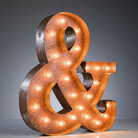 Vintage Marquee Lights - Ampersand &amp; sign
