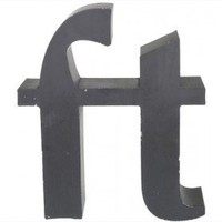 Vintage 19&quot; Salvaged Aluminum Channel Letter