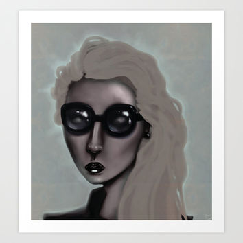 Shades with a Glow Art Print by Ben Geiger