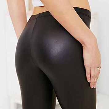 Out From Under Matte Vegan Leather Legging- Black