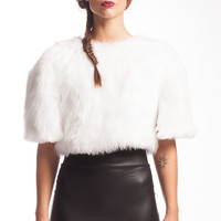 Pope Crop Top with Faux Fur