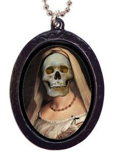 Renaissance Skull Woman Lowbrow Surreal Necklace