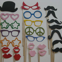 Photo Booth Party Props The Fun Collection by olivetreemonograms