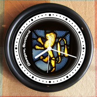 MEDIEVAL KNIGHT GLASGOW Scotland Castle Stained Glasscolors 10 inch Resin Wall Clock Under 25.00 Geekery