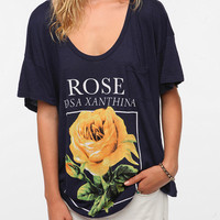 Title Unknown Oversized Rose Slub Tee