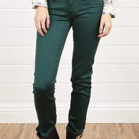 MS1150 Green Lean Stretchy Skinny Jeans and Shop Apparel at MakeMeChic.com