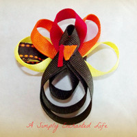 A Simply Enchanted Life | Turkey Hair Clip in Autumn Colors | Online Store Powered by Storenvy
