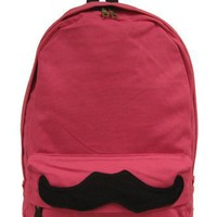 Carrot Aj-61411 Mustache Canvas Backpack