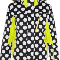 House of Holland | + Roxy polka-dot Dry Flight shell ski jacket | NET-A-PORTER.COM