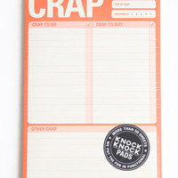 Crap To Do Paper Pad - &amp;#36;9.00 : ThreadSence.com, Your Spot For Indie Clothing &amp; Indie Urban Culture