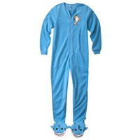 Nick & Nora® Women's Shark Footie Pajama - Blue