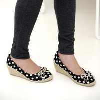 YESSTYLE: 59 Seconds- Polka Dot Kitten Wedges - Free International Shipping on orders over $150