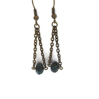 Faceted Picasso Czech Glass Bead Earrings