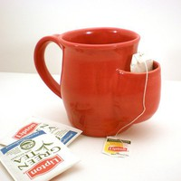 Mug Tea Drinker&#x27;s Sidekick Red Cup by AngelaIngram on Etsy