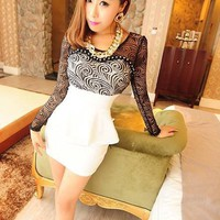 new waist bound lace dress | martofchina.com