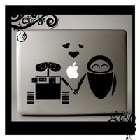 WALL E Loves EVE   Macbookpro  Decal | Decalville - Techcraft on ArtFire