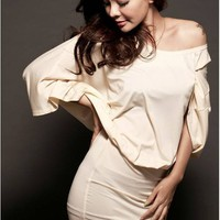 New arrival strapless milk silk skirt | martofchina.com